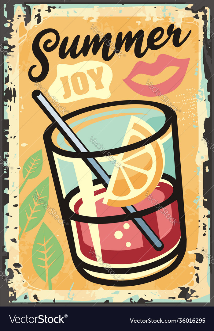 Summer joy tropical theme with exotic juice