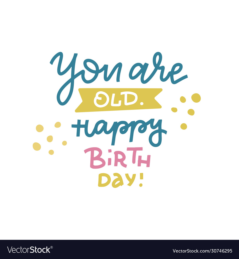 You are old happy birthday - funny comical