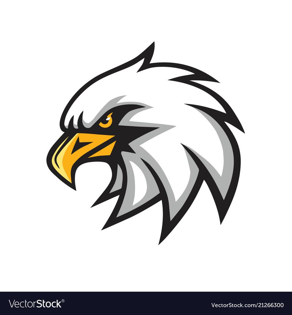 Eagle mascot logo sign