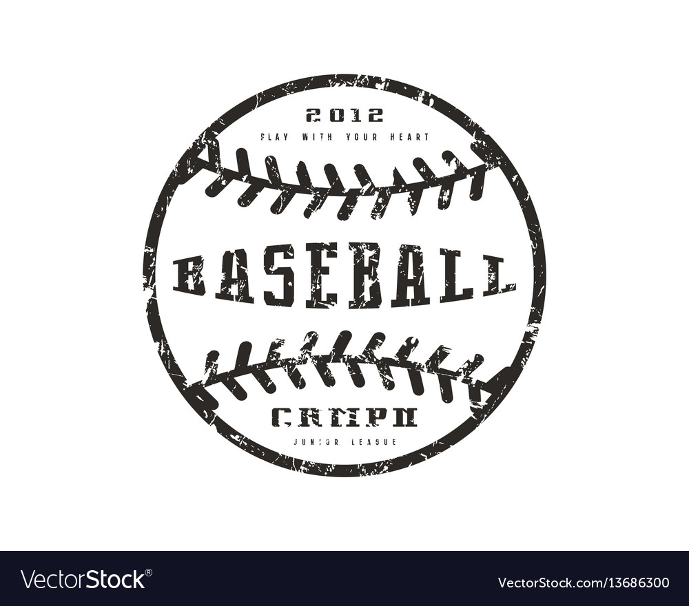 Emblem baseball championship vector image