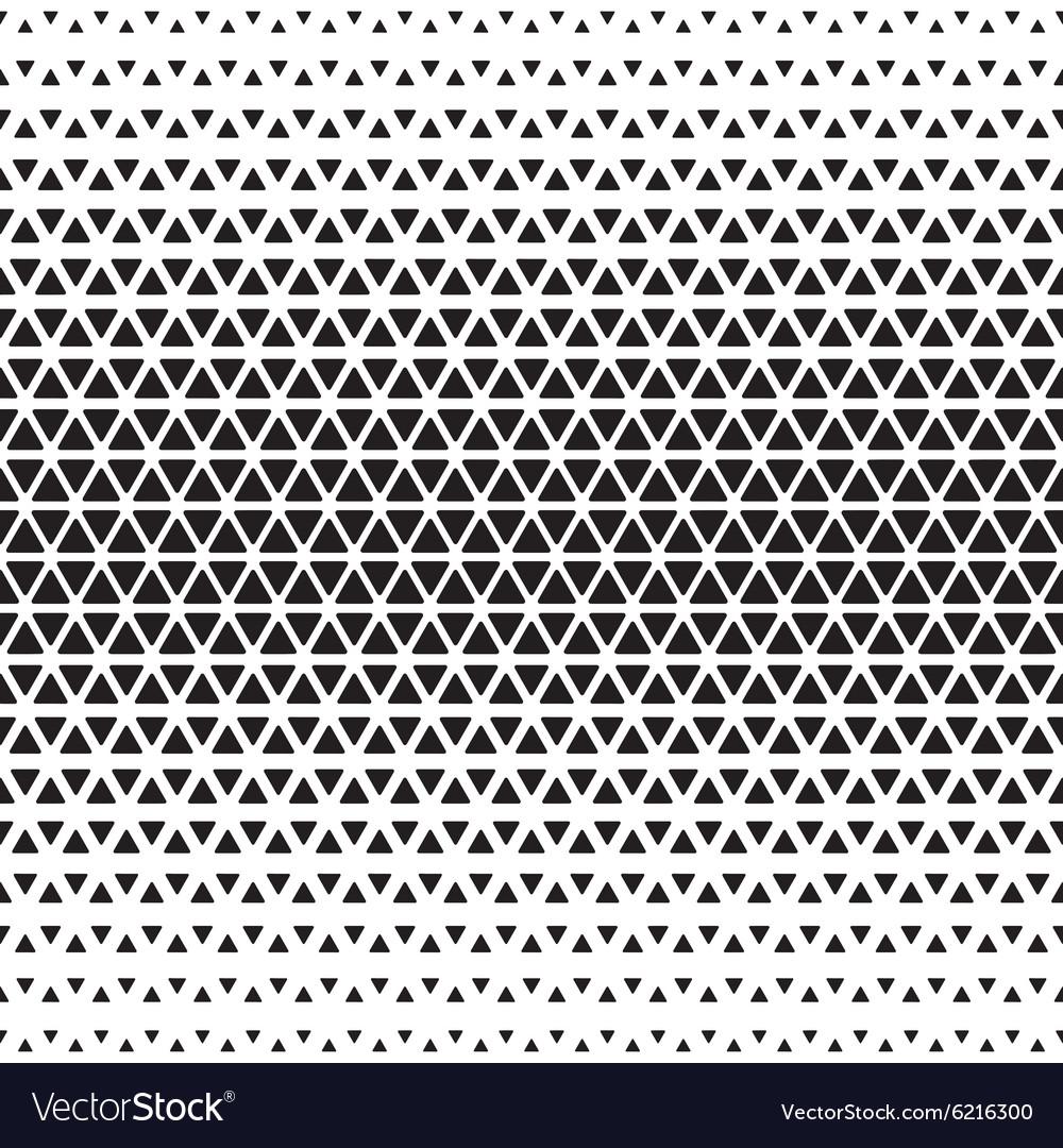 Halftone monochrome geometric pattern