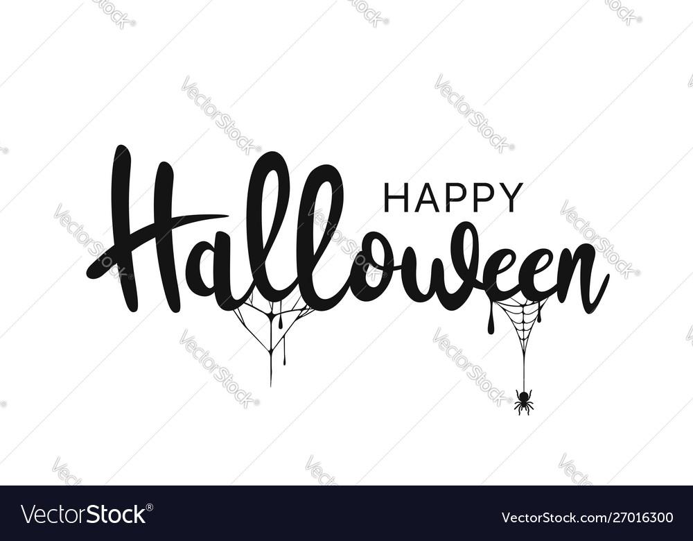 Happy halloween lettering handwritten calligraphy