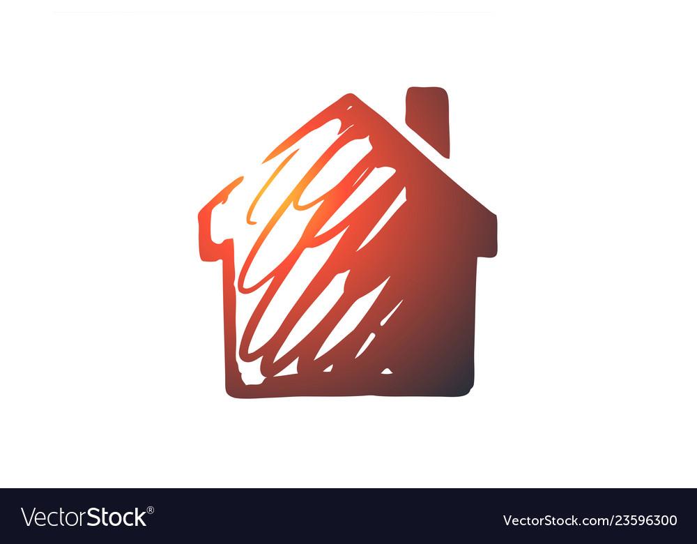 House building real estate architecture concept