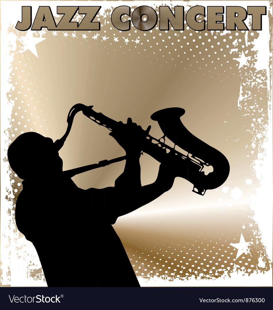 Jazz concert wallpaper vector image