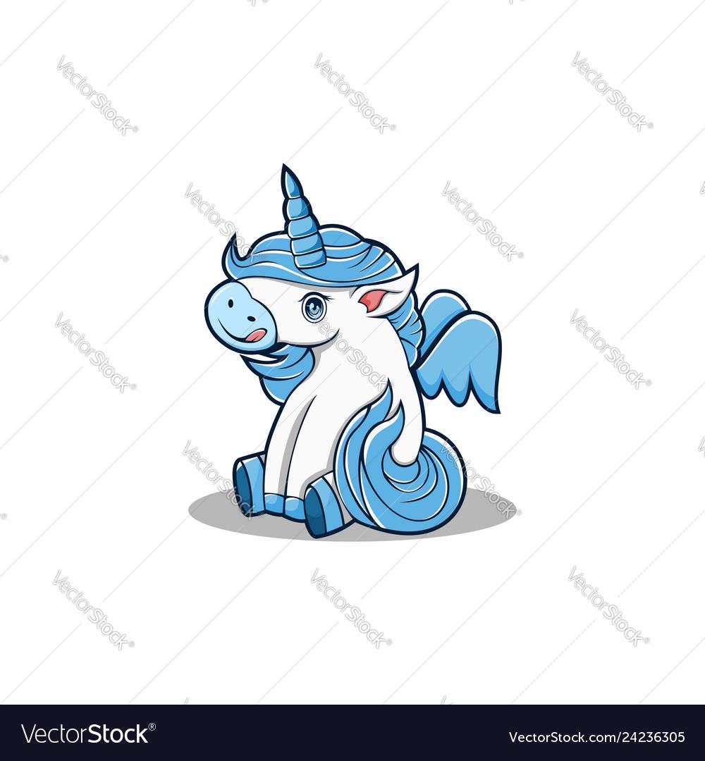 Baby unicorn mascot carton