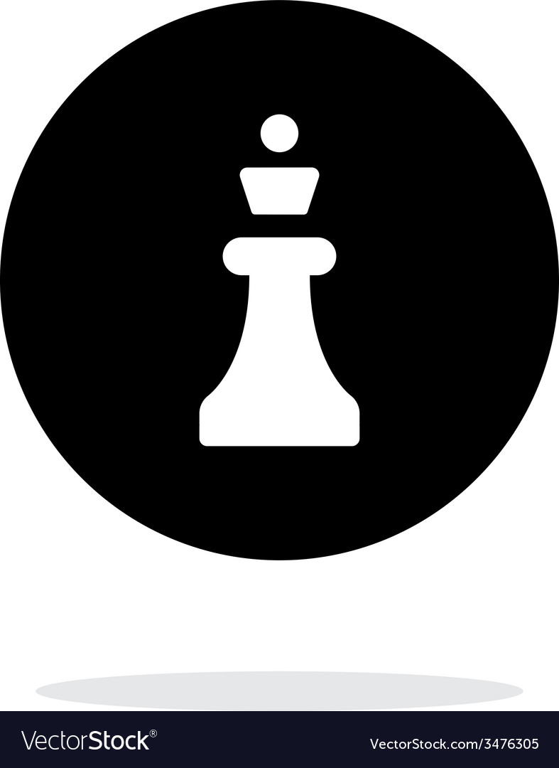 Chess Queen simple icon on white background