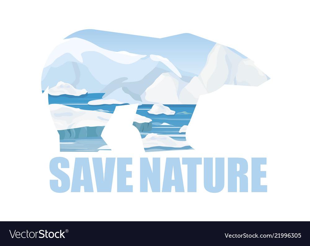 Concept of saving arctick