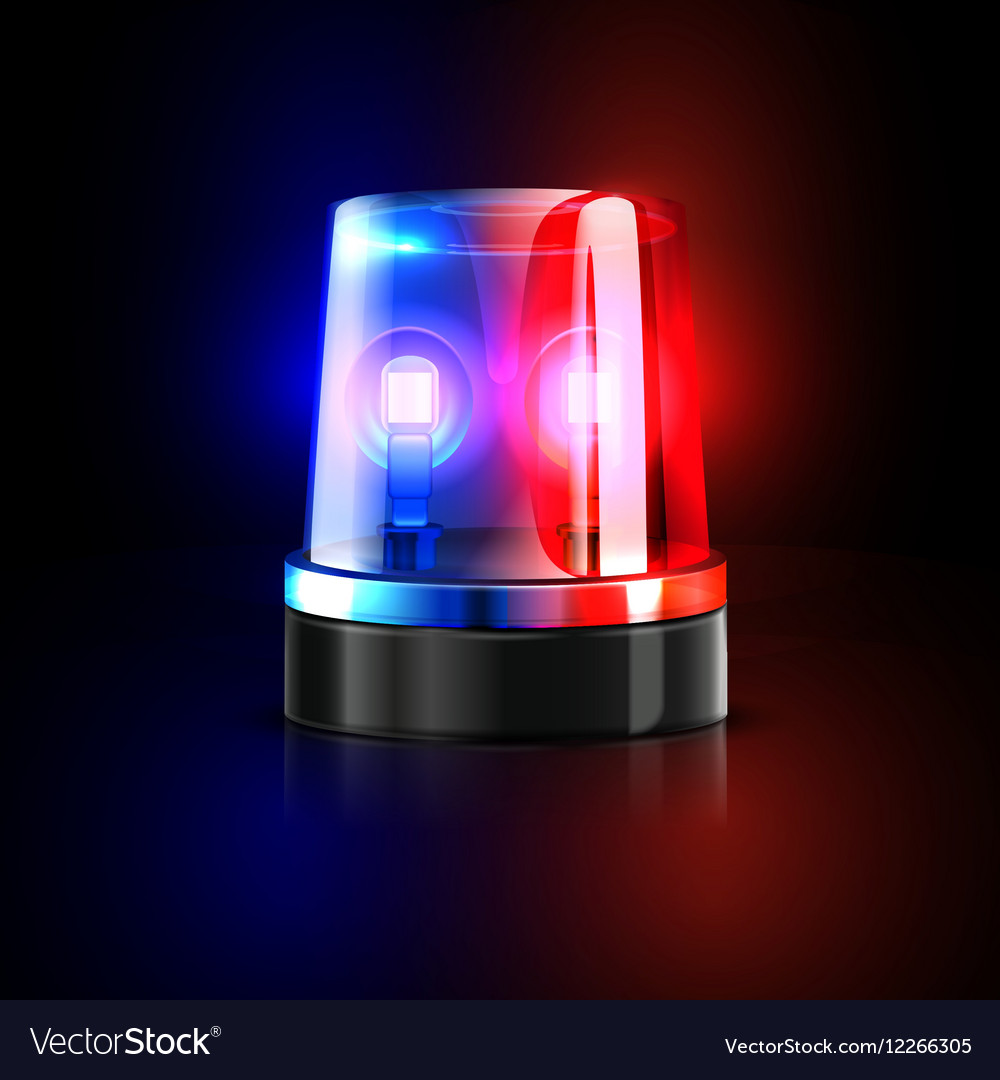 emergency flashing police siren royalty free vector image. Black Bedroom Furniture Sets. Home Design Ideas