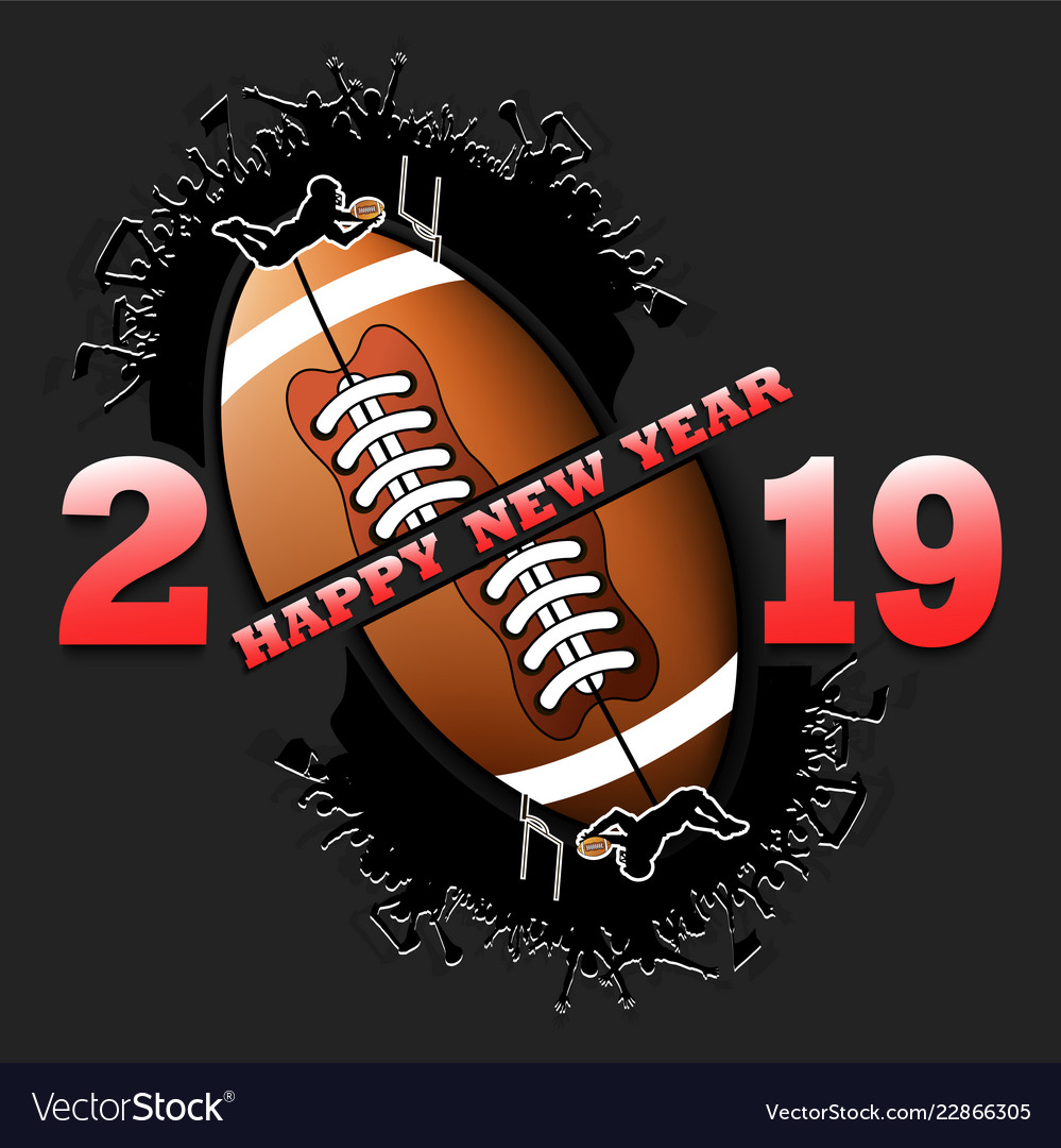 Happy New Year 2019 And Football Ball Royalty Free Vector