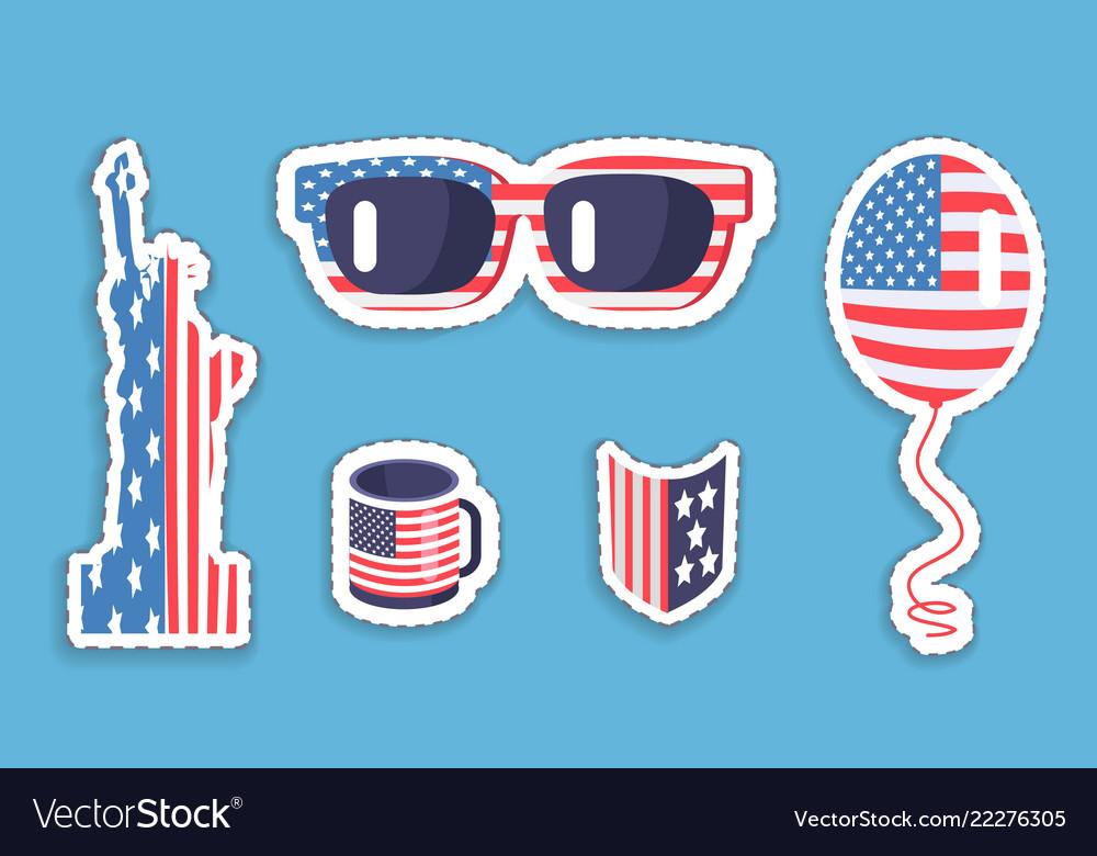 Liberty statue sunglasses balloon in usa symbolism