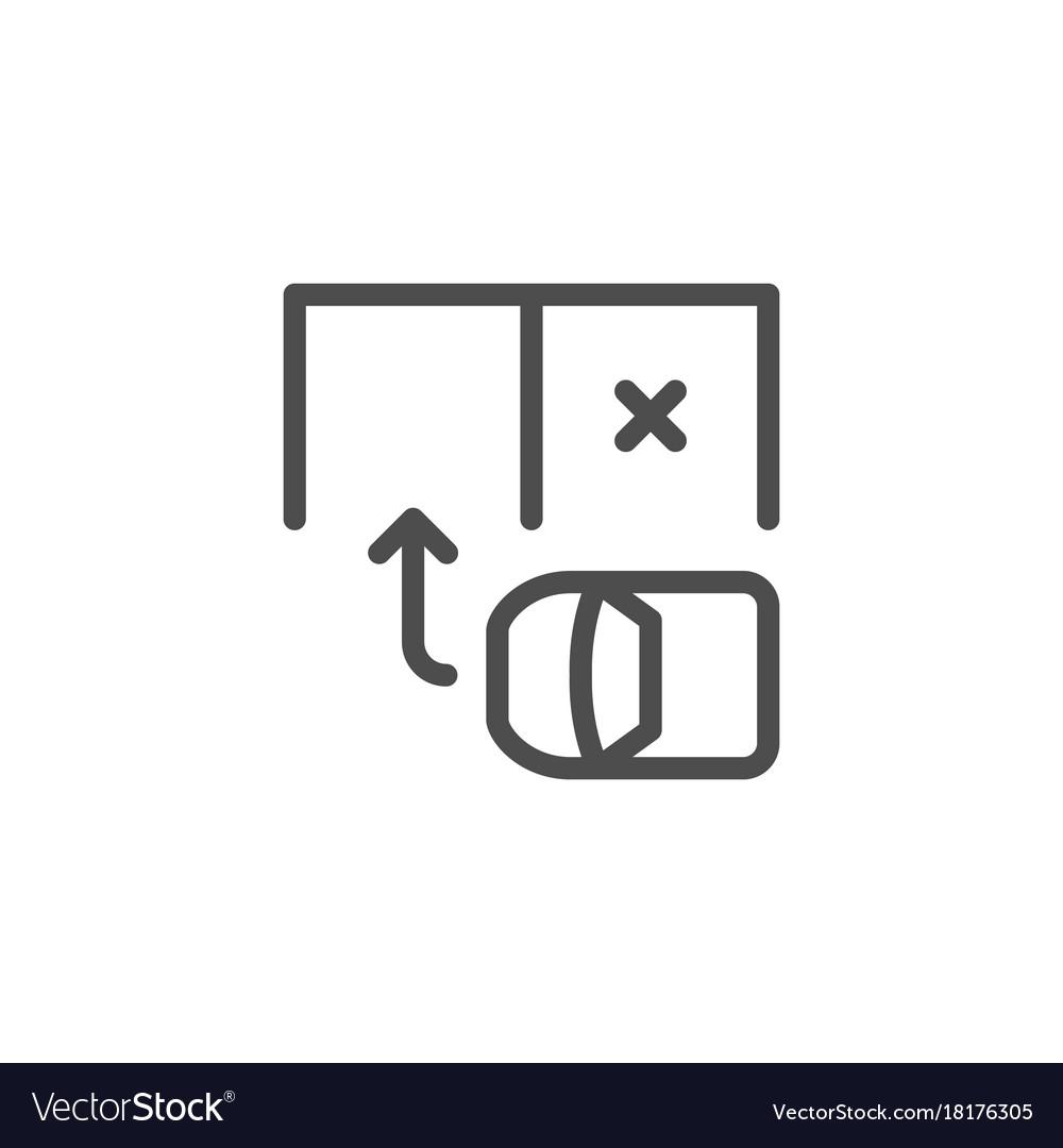 Parking scheme line icon