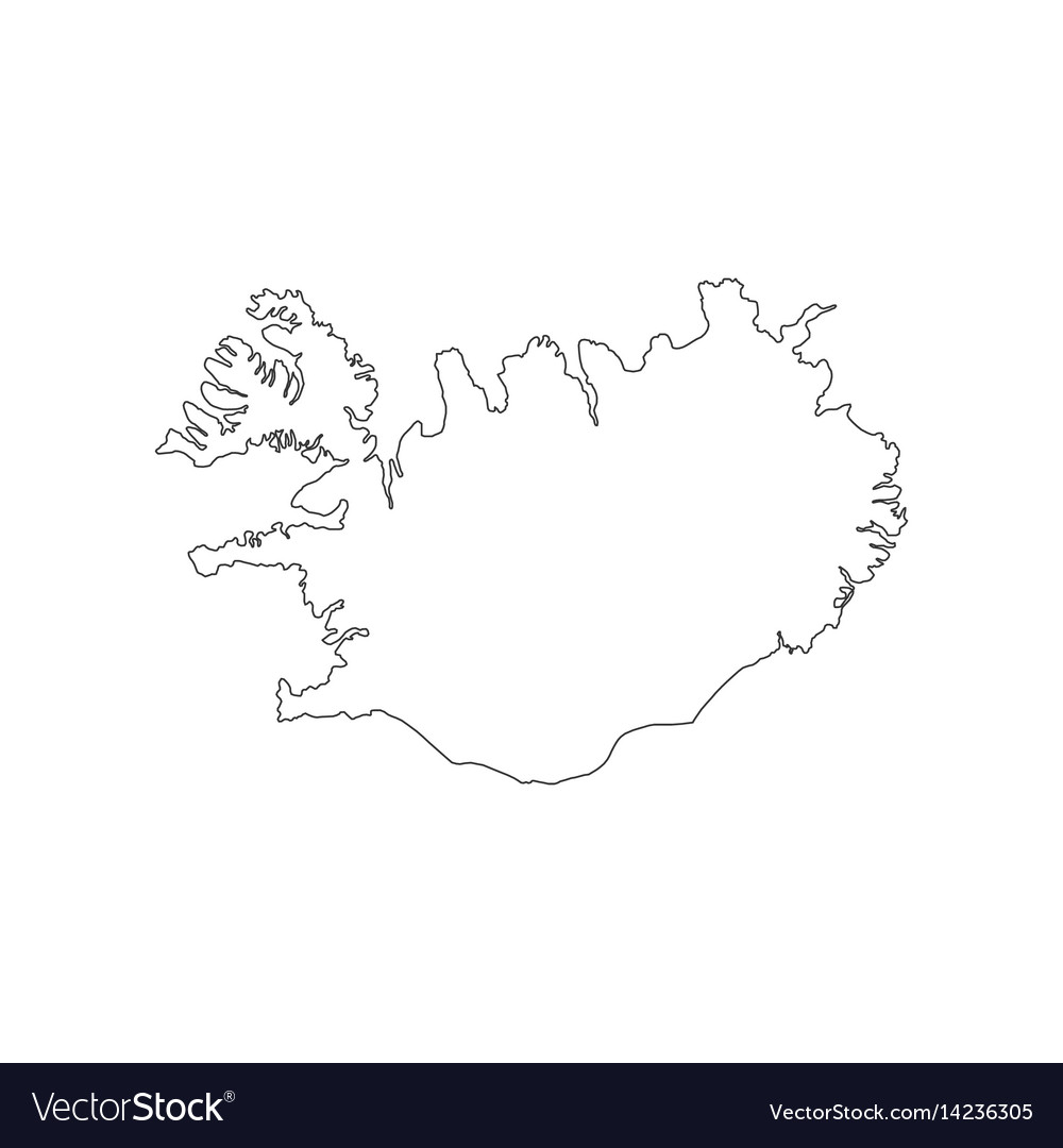 Republic of iceland map