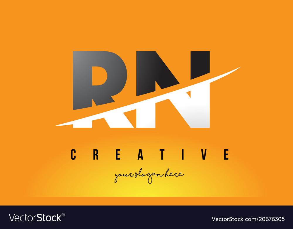 Rn r n letter modern logo design with yellow vector image altavistaventures Images