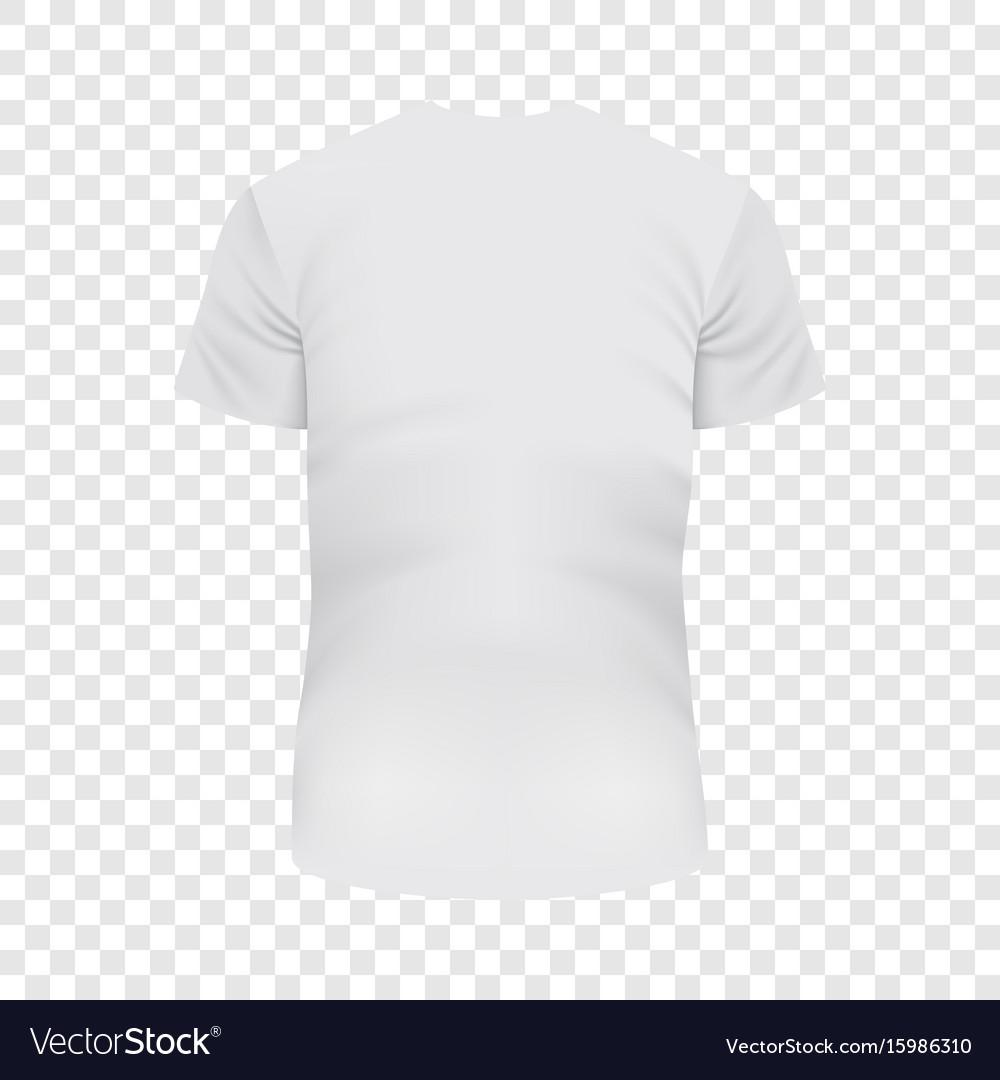 Back of white tshirt mockup realistic style
