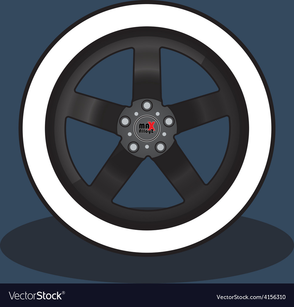 Car Rim and Tire