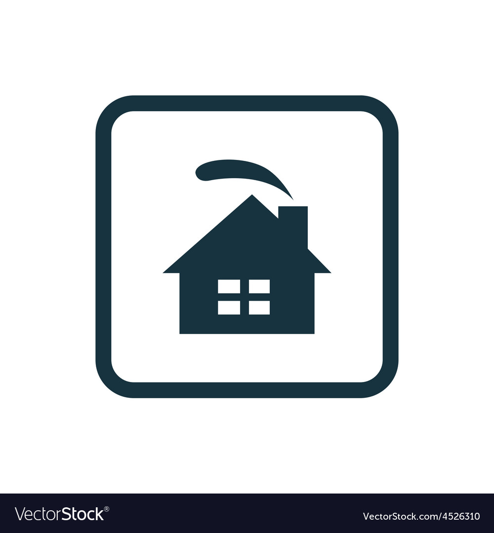 Cozy home icon Rounded squares button vector image