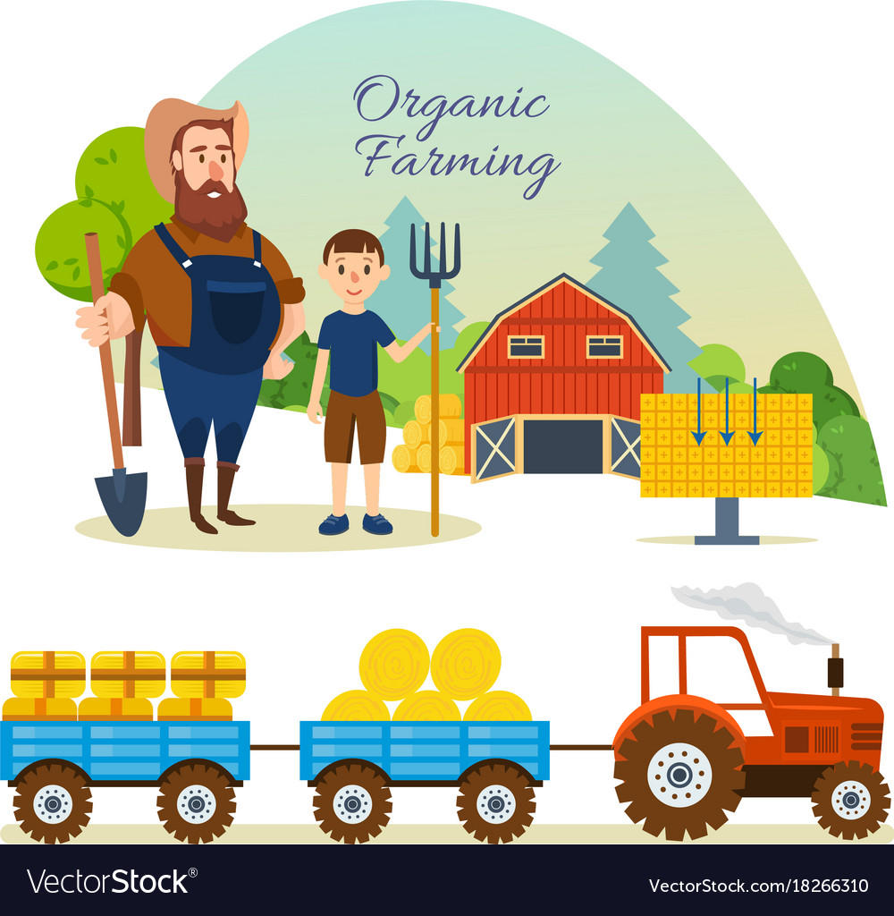 Farmer organic natural food agriculture