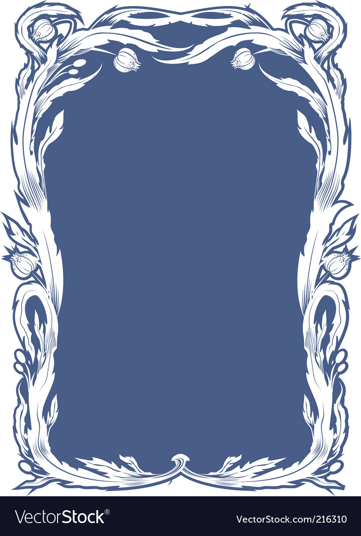 Floral tiffany style frame Royalty Free Vector Image