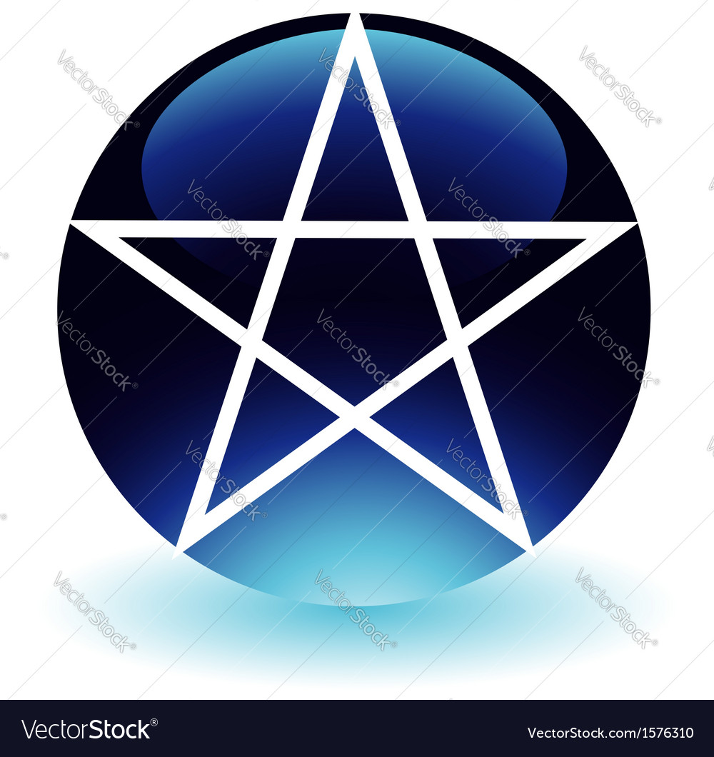 Pentagram Religious Symbol Of Satanism Royalty Free Vector