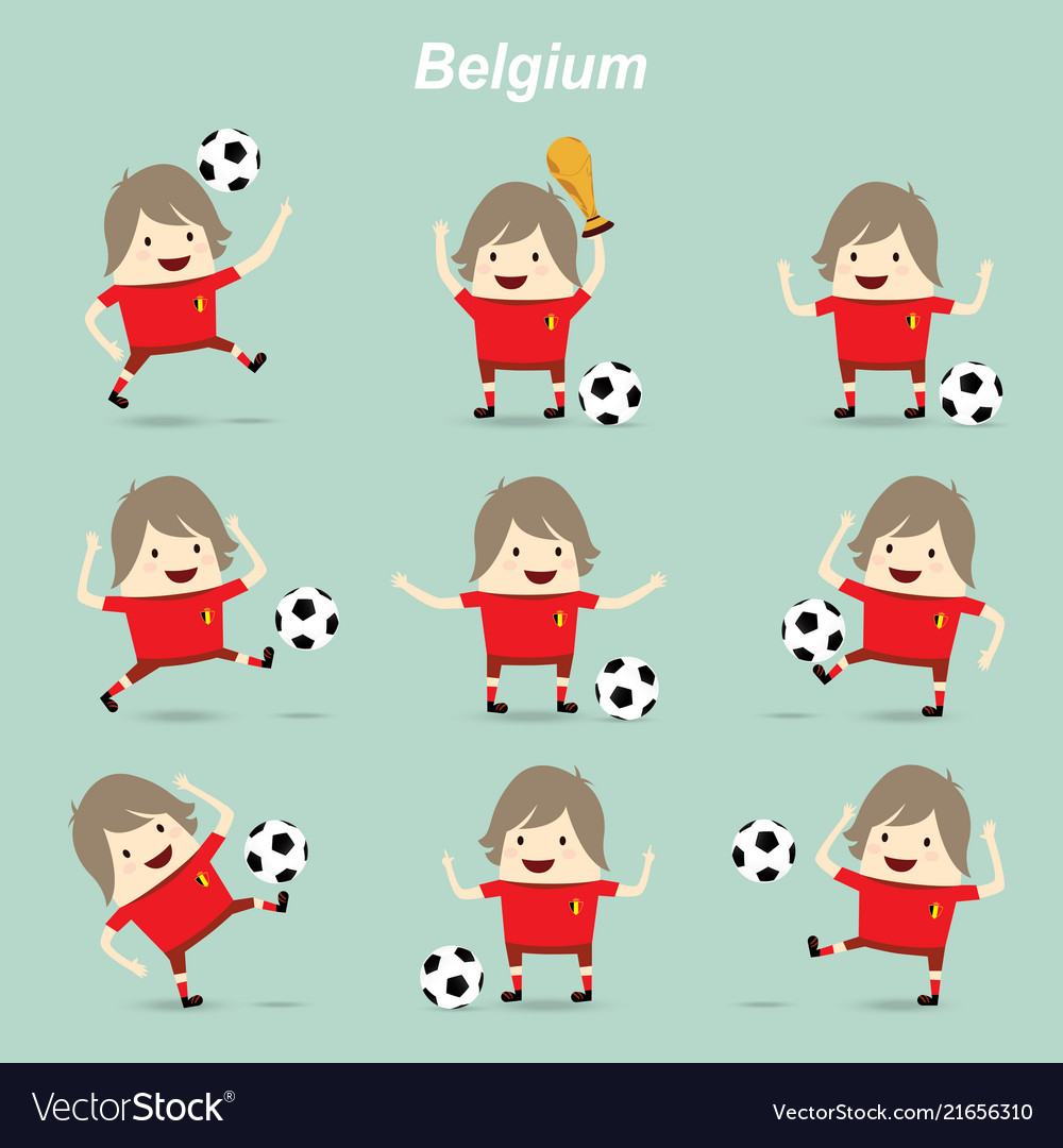 Set character actions belgium national football