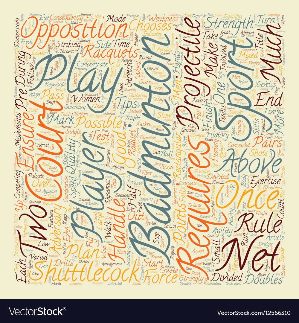 Some Tips For Badminton text background wordcloud