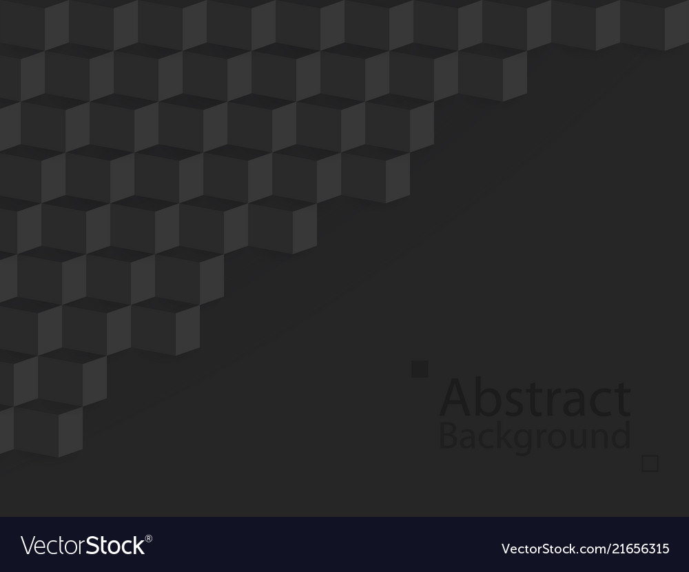 Black dark abstract background square 3d modern
