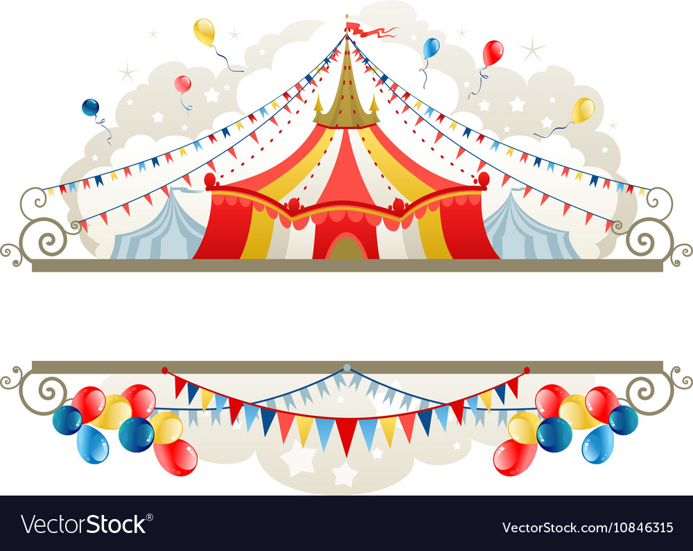 Circus tent frame Royalty Free Vector Image - VectorStock