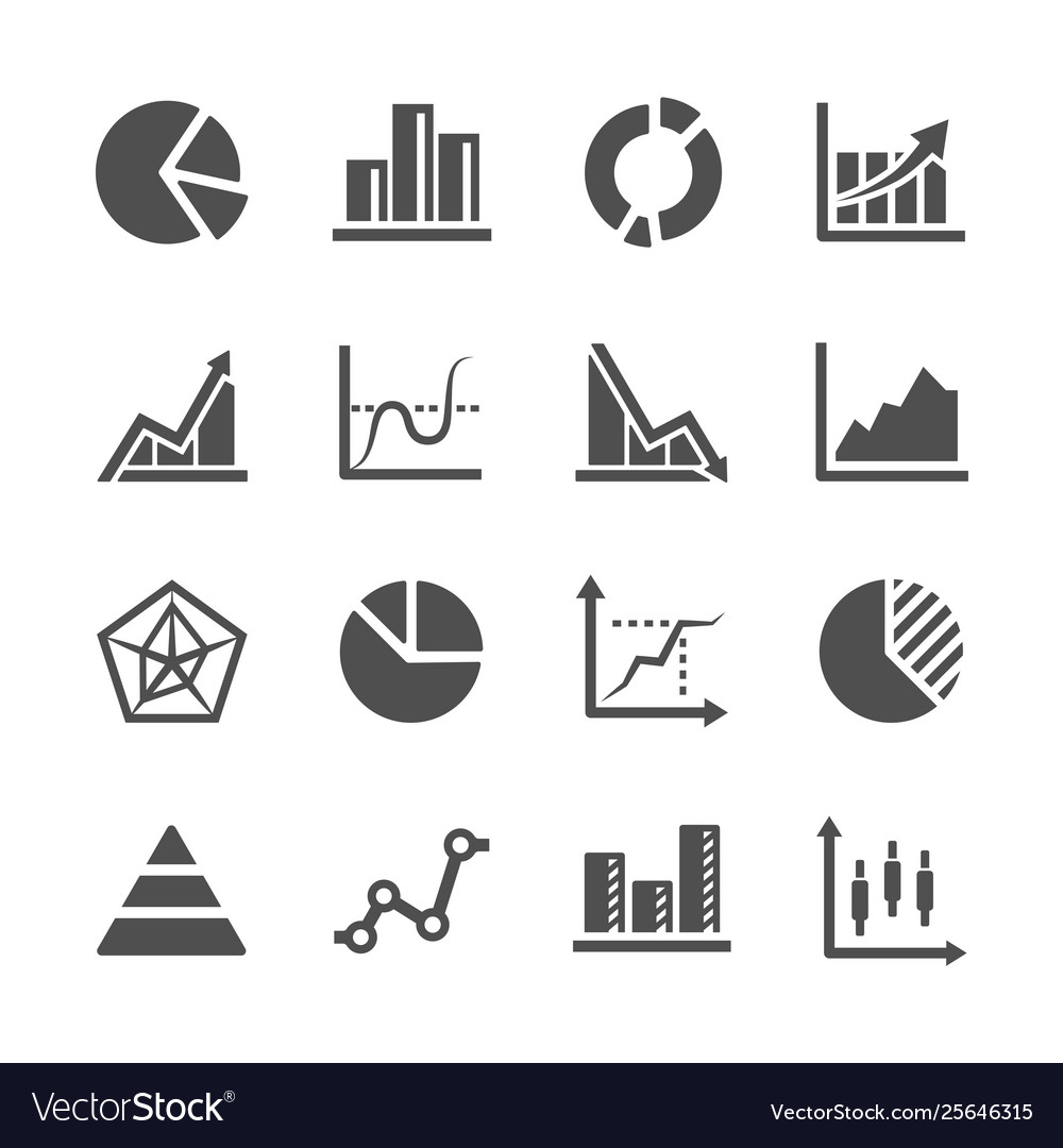 Diagram and chart icon set