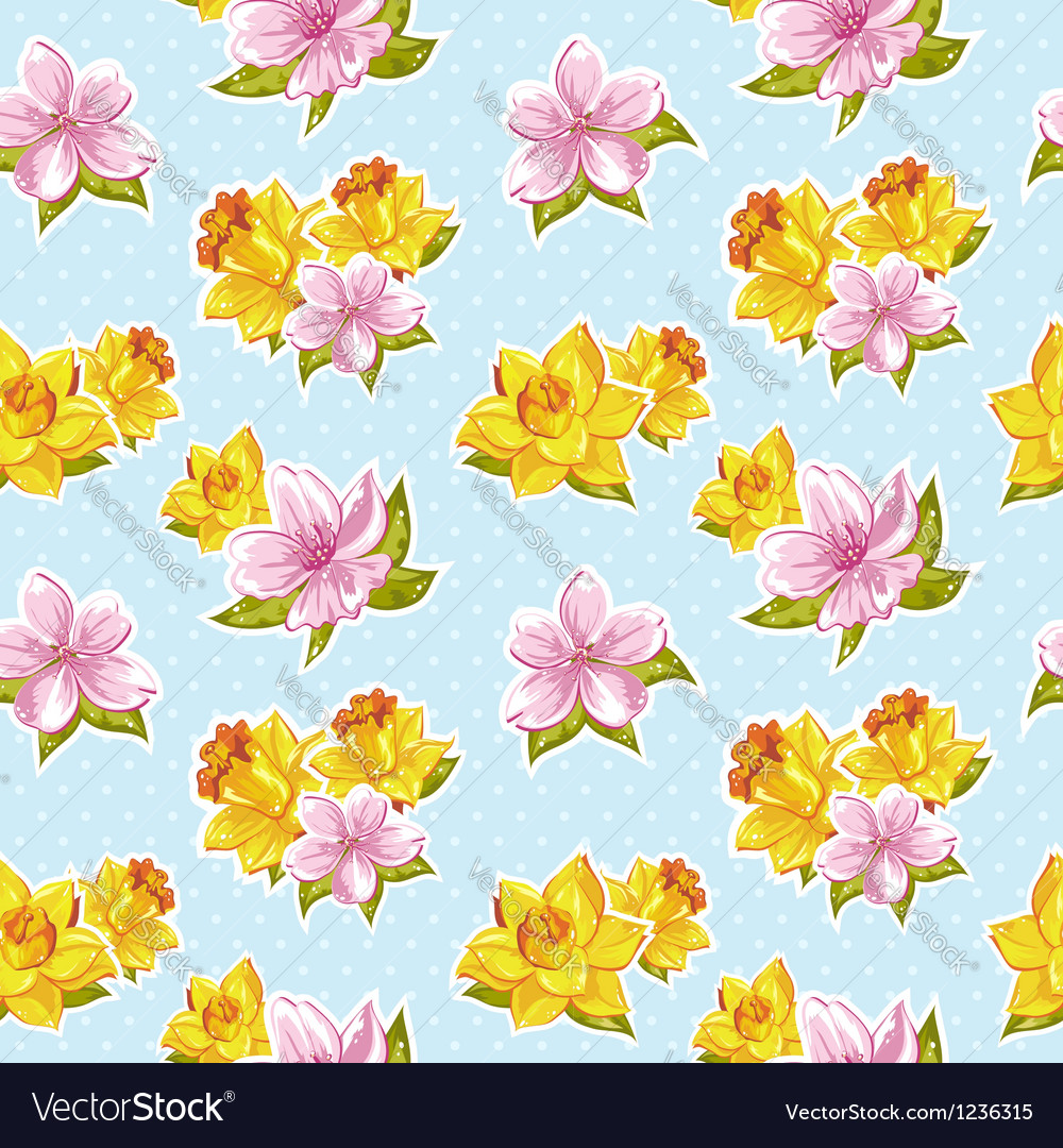 Elegant stylish spring floral seamless pattern