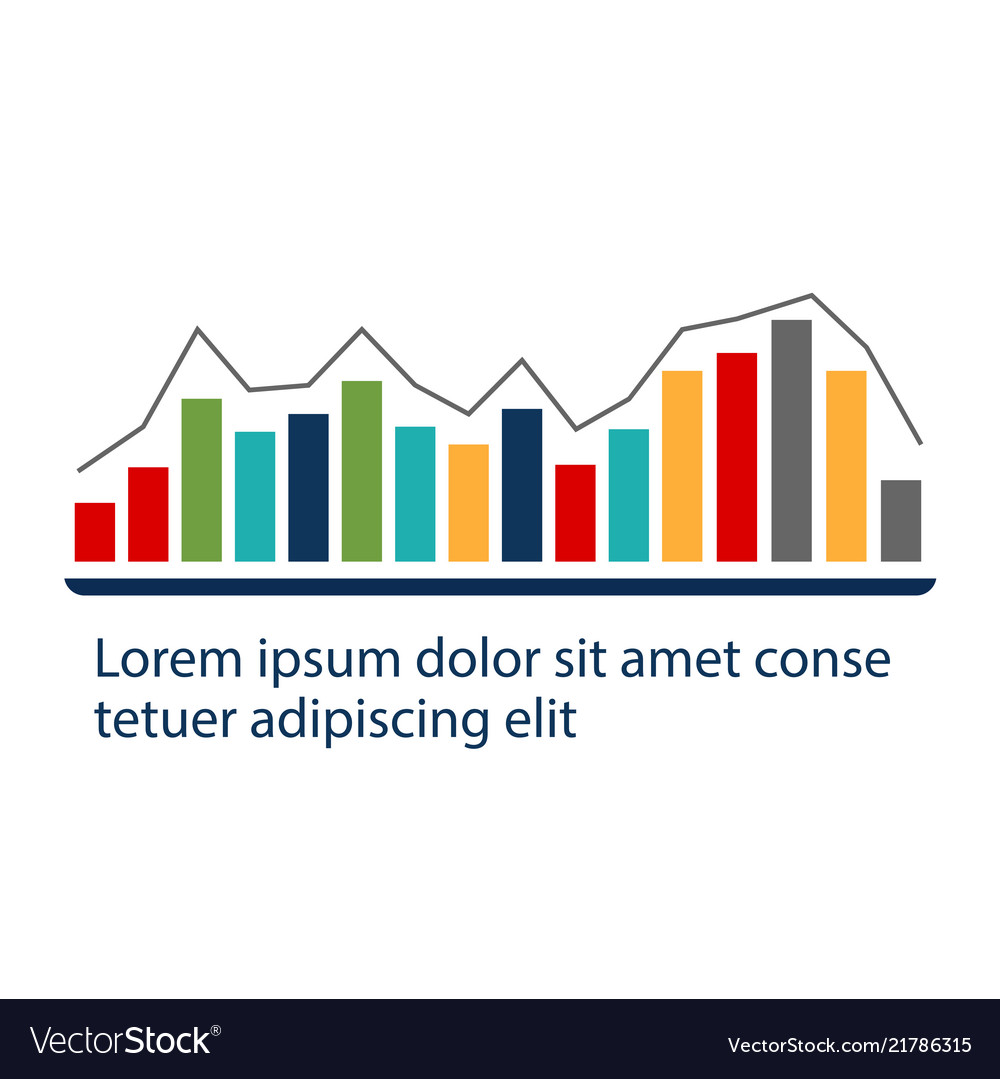Infographic abstract bar chart design image