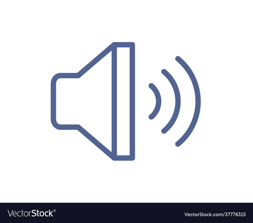 Loud speaker with sound waves icon for volume