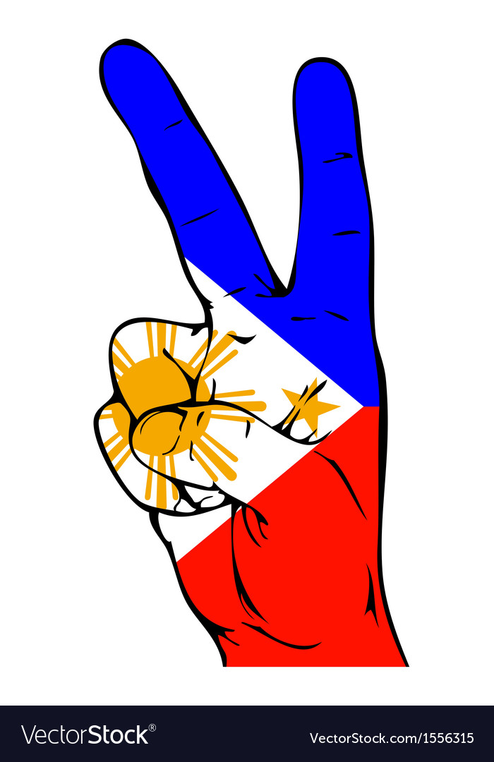 Peace Sign Of The Philippine Flag Royalty Free Vector Image