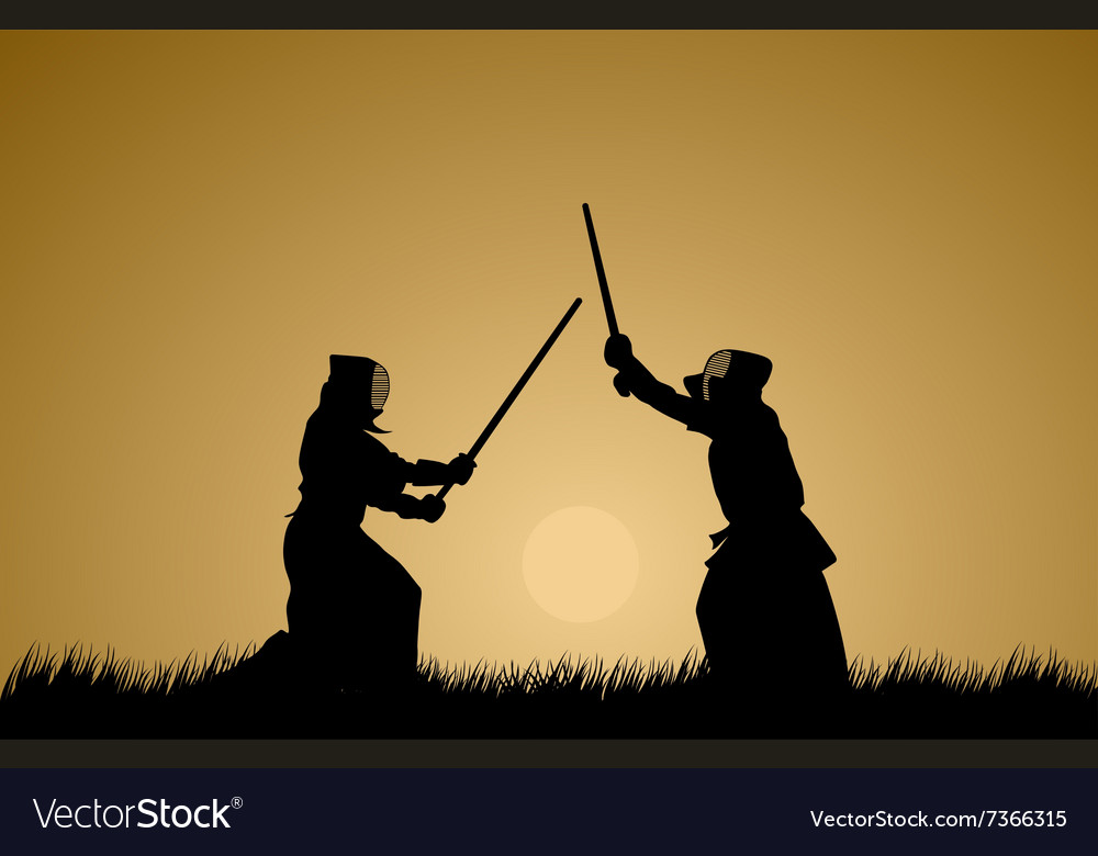 Two men engage in martial arts