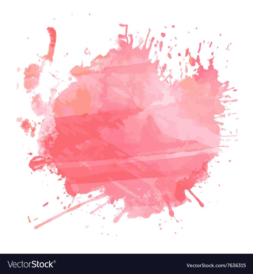 Watercolour splatter 1612 vector image