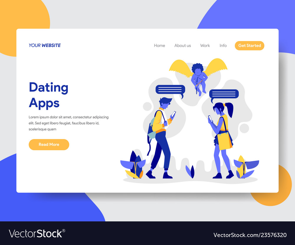 Couple with dating apps