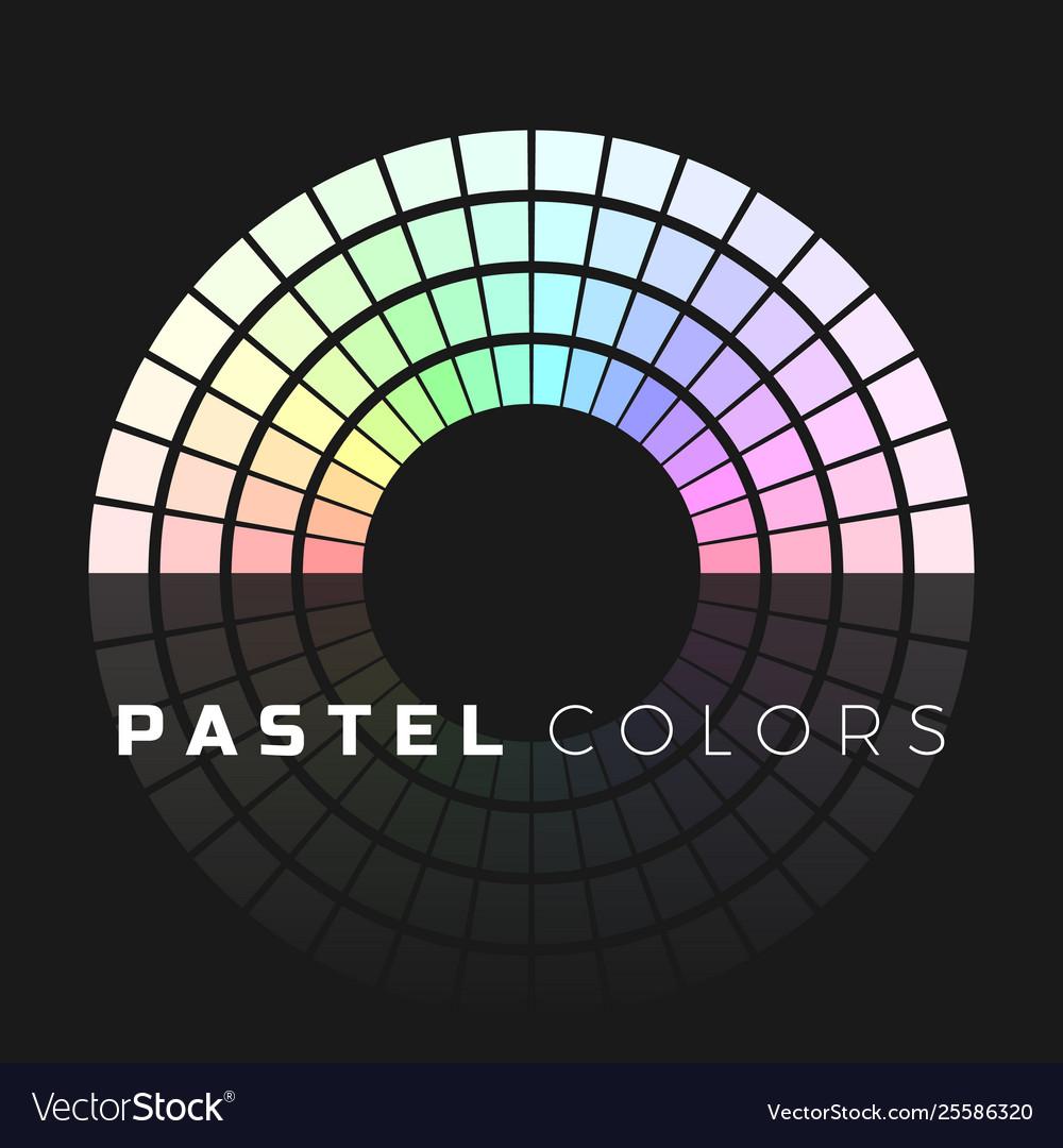 Discrete set pastel shades semicircle color