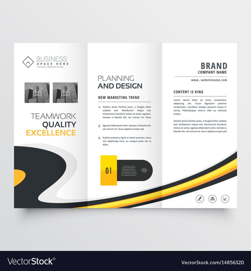 Elegant Bright Trifold Brochure Design Template Vector Image