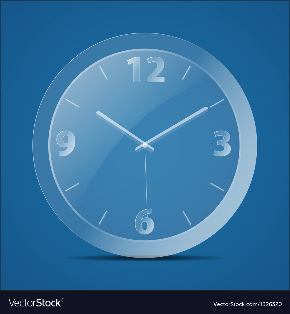 Glass clock vector image