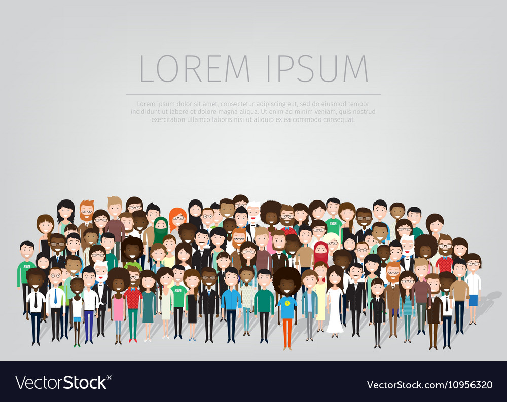 Large group of people vector image