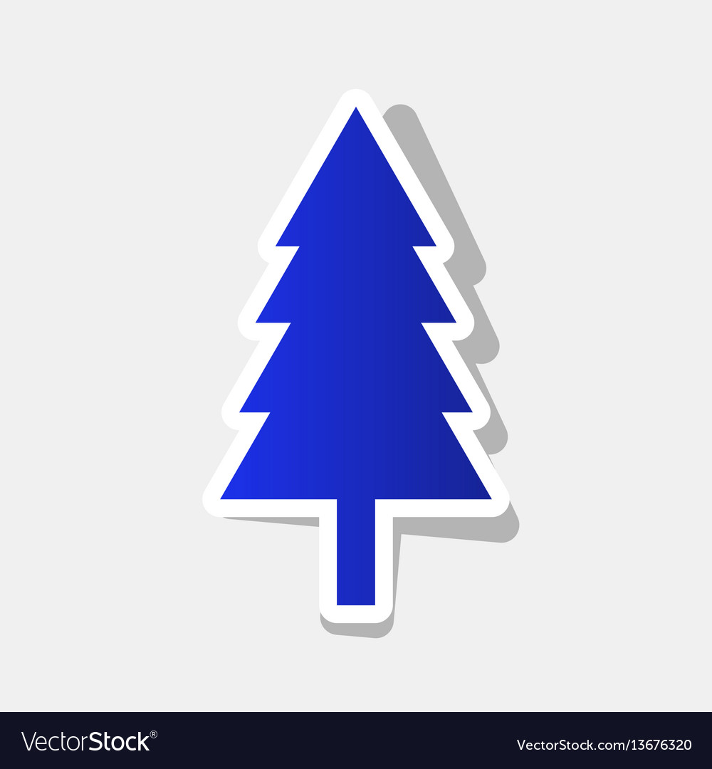 New year tree sign new year bluish icon