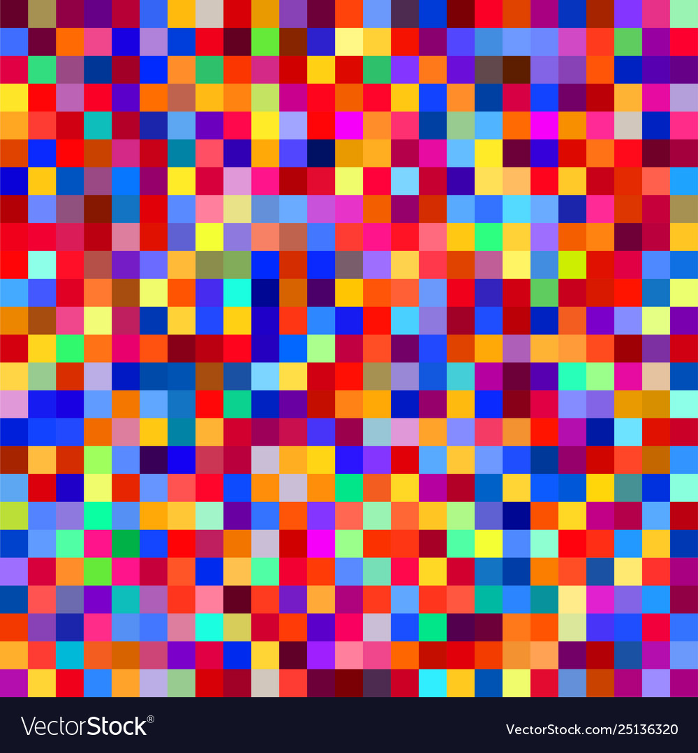 Seamless colorful pixel pattern