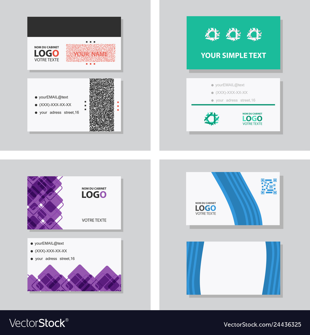 Creative and clean double-sided business card