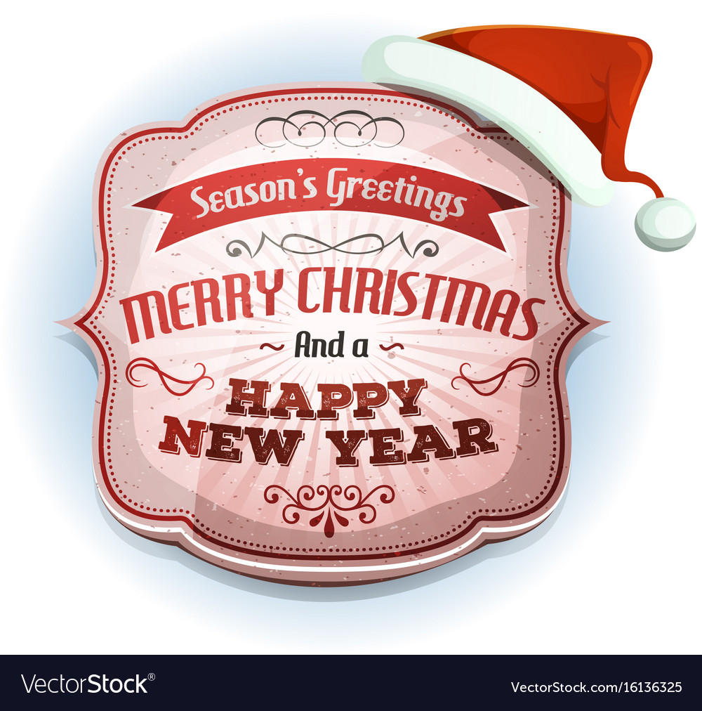 Merry christmas and happy new years badge