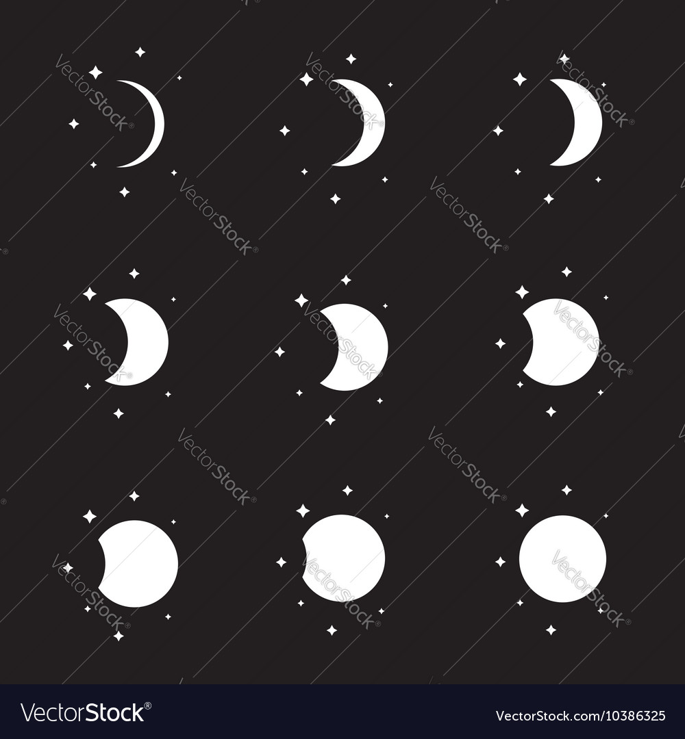 Moon Phases High Resolution