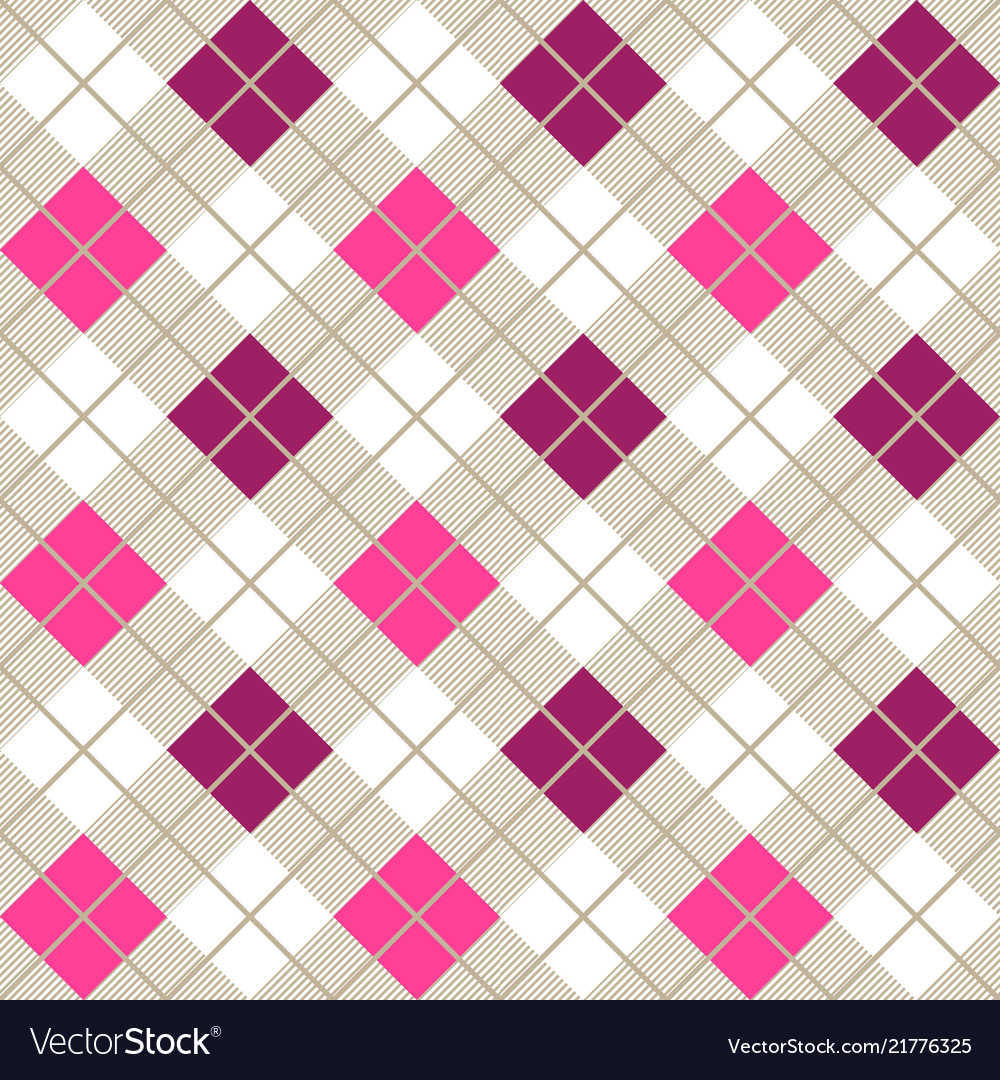 Pink and purple argyle harlequin seamless pattern