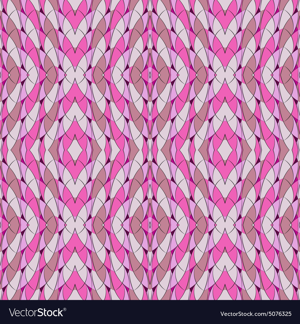 Seamless pattern in pink with arches and lozenges vector image