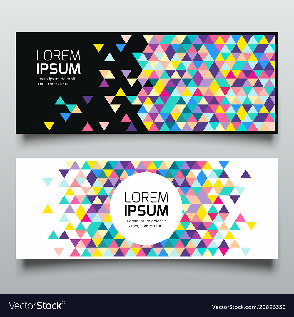 Banners triangle geometric colorful collections