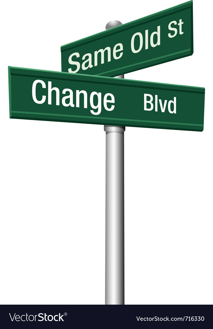 Change and choose vector image