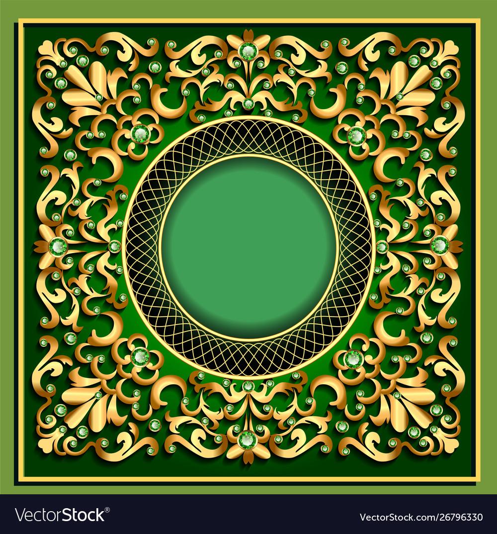 Modern volumetric floral ornamental background