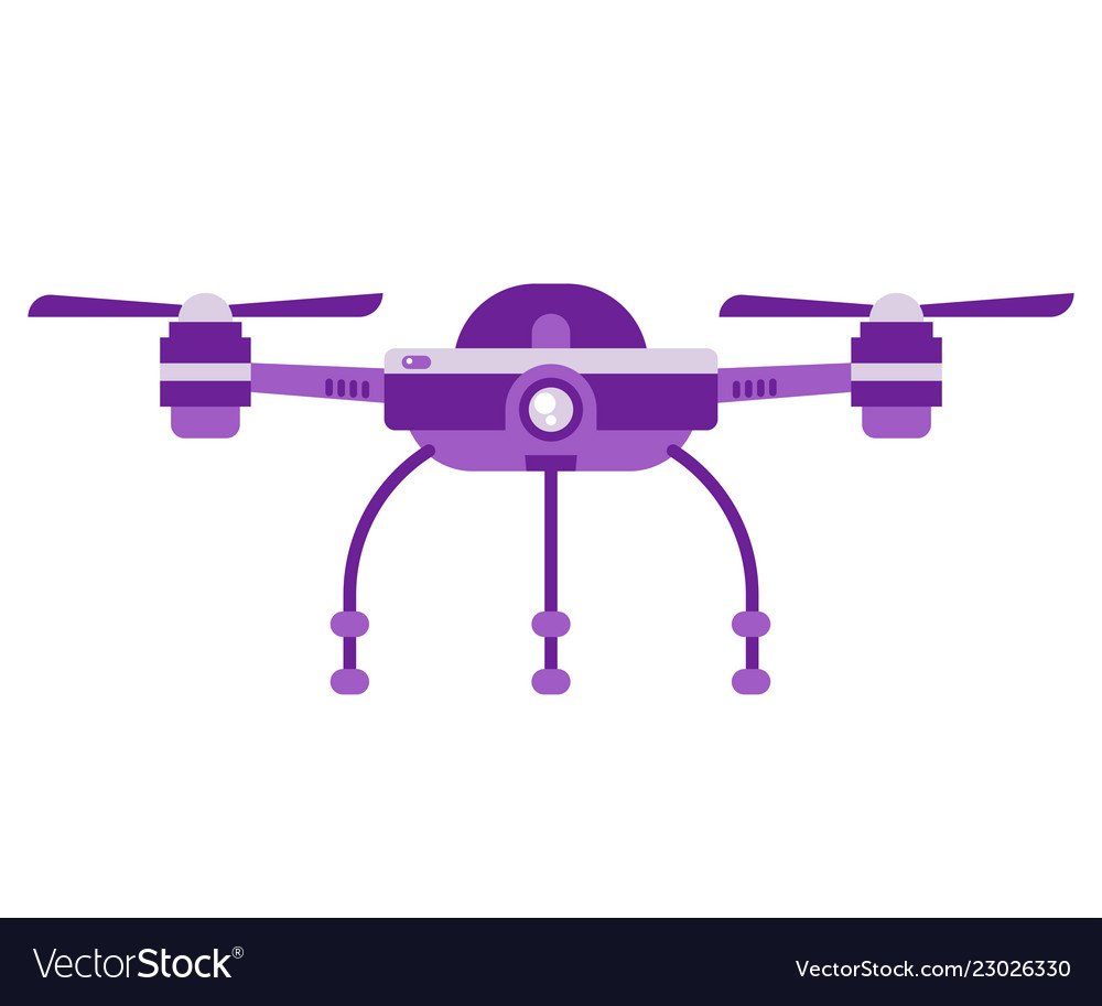 Single drone quadcopter with camera